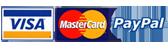 Paypal Visa Mastercard logo